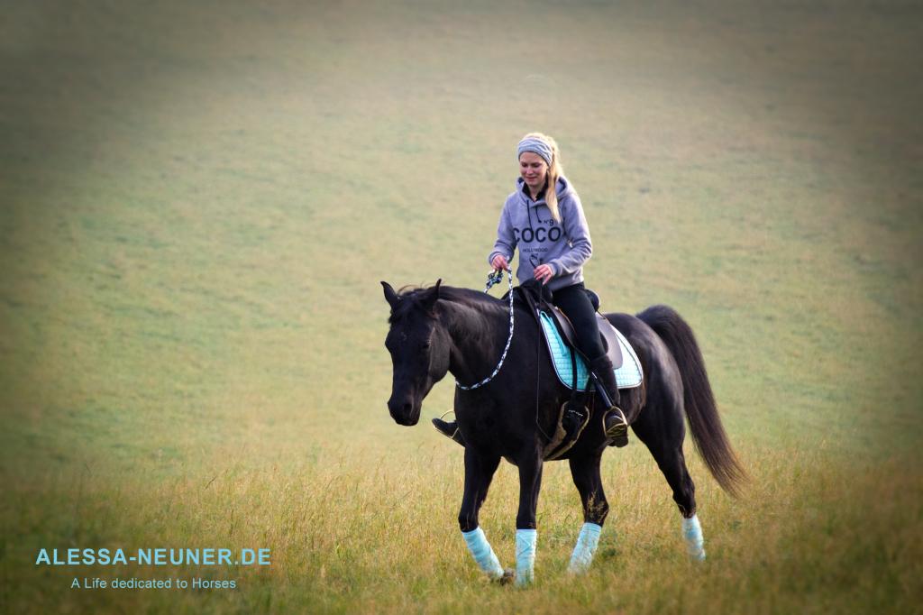 Auf dem Weg zu voller Harmonie zwischen Reiter und Pferd muss man oft erst einmal seine eigene finden...