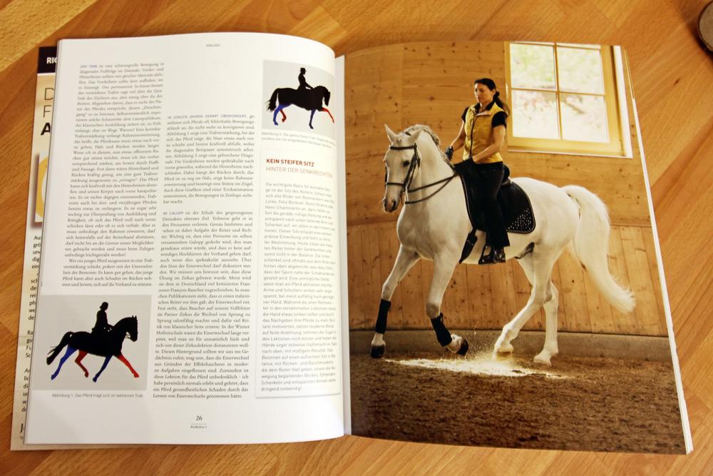 """Eindrucksvolle Scherenschnitte aus Videoaufnahmen gibt es in dem Bookazin """"Reitkultur"""" vom Crystal Verlag zu sehen."""